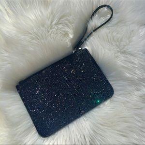 Black Glitter Wristlet